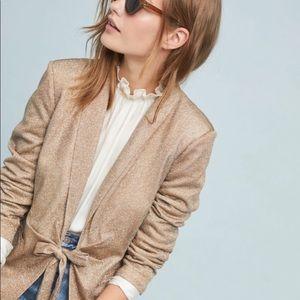 Anthropologie Greylin gold tuxedo jacket NWT